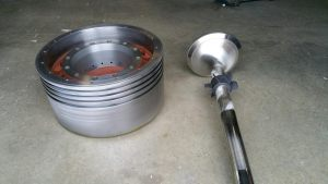 Piston Crown and Spindle after Reconditioning